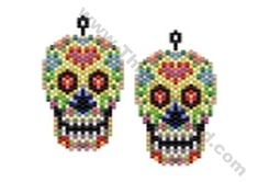 Day of The Dead Skull Bead Pattern By ThreadABead