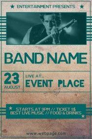 online band flyer maker