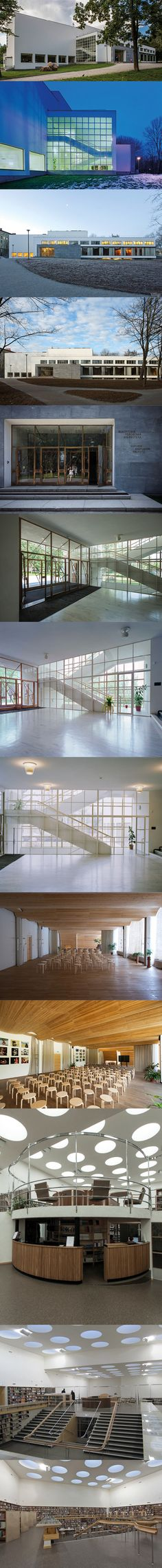 1933-35 Alvar Aalto - Vyborg Library  / Russia / Viipuri Finland / concrete glass wood / white / cultural