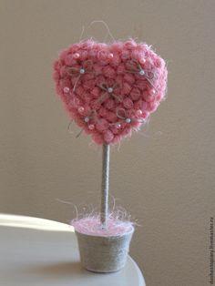 """Подарки для влюбленных ручной работы. Ярмарка Мастеров - ручная работа Топиарий """"Ванильное сердце"""". Handmade."""