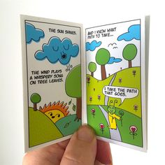 Fasoho Vol.1: The Enlightening Bug by James Spicer.  A sweet miniature comic book with messages of kindness, love, and helping hands.  Handmade 16 full