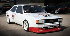 Here's a pretty insane build by Dialynx. B2 80 quattro 2-door, Group 2 wide body, 1.4-liters, 600+hp and weighs same as a Golf Mk1.