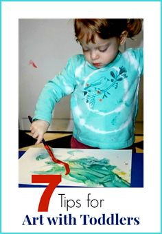 Tips for success when doing art with toddlers and other young children, including set up, attention span, and art materials for toddlers. #3 is especially important!