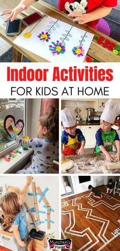 37+ Fun Indoor Activities For Kids Stuck at Home | Munchkins Planet