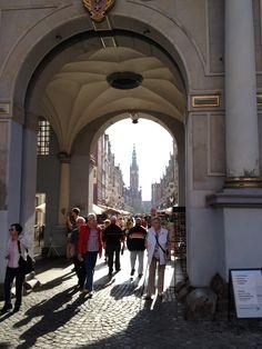 Poland, Gdansk. Inner city.