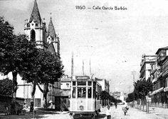 El Tranvía, circulando por la calle García Barbón, sobre el año 1920.