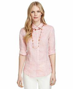 Jewels -Brooks Brothers: Lobster Linen Shirt, $105