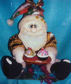 Molde: Noel invitando cupcakes
