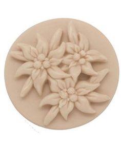 Molde Pastilla de Jabón, Flores Edelweiss