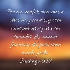 Oracion. Santiago 5:16
