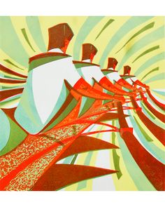 A new print by Paul Cleden 'The Four'