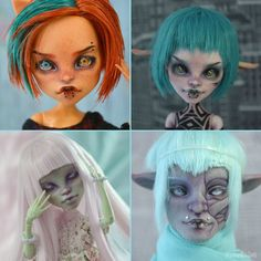 OOAK Custom Monster High dolls repaint commission by RonnikBC
