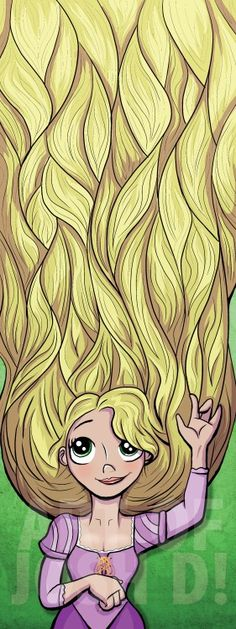 Rapunzel by Josh D., 6X16 signed print, donated by the artist