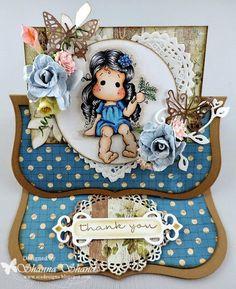Magnolia- Virgo Tilda MFT Stamps - Pretty Poppies MFT Die-namics- Decorative Doily Duo Magnolia Die- Heart Swirl C.C. Designs - Leaves C...