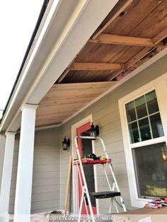Front Porch Ceiling Progress Plus Haint Blue Vs White Ceilings
