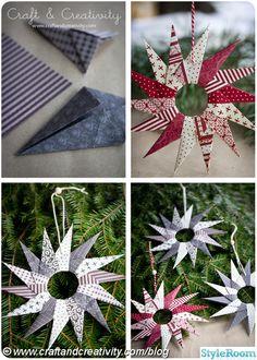 origami,papper,julpyssel,julstjärna,stjärna,julpynt