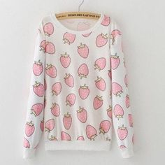 Strawberry Fruit Pullover - Totemo Kawaii Shop