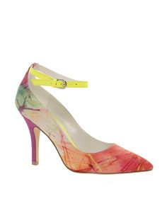 Pop of color heels.