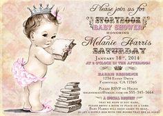 Storybook Baby Shower Invitation For Girl Baby Shower  by jjMcBean, $20.00