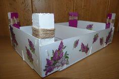 Reciclar una caja de fresas - Isabel Vintage