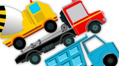 Trucks Song | Nursery Rhymes For Kids And Childrens | Learn Transport | ...