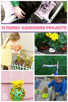 Awesome gardening projects for family time!  Kids love playing in the dirt and watching the garden grow.  What a great family activity from Kids Activities Blog.