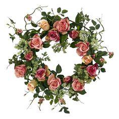 Faux Rose Wreath