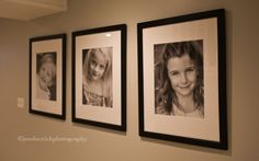 Individual black and whites of the kids, matte and framed like this is a perfect way to highlight them each.  We'll need 6 frames soon- crazy!!
