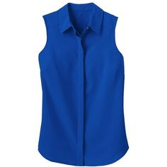 Microfiber Sleeveless Tunic ($69) ❤ liked on Polyvore featuring tops, tunics, electric blue, plus size sleeveless tops, petite tunics, sleeveless tunic, travelsmith and royal blue sleeveless top