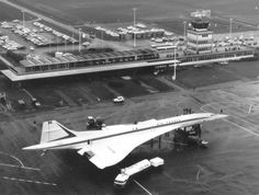 Concorde F-WTSB at LIL airport. Lille - Lesquin France