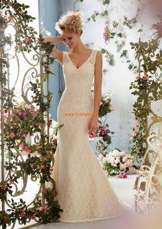 Corte Sirena Escote en V Escotado por Detrás Vestidos de novias 2014