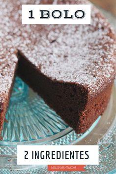 Um bolo de chocolate com dois ingredientes Que tal preparar um bolo de chocolate usando apenas ovos e chocolate meio amargo? Confira a receita e faça essa delícia em casa. www.melepimenta.com
