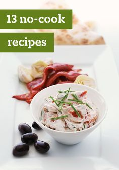 13 No-Cook Summer Recipes – Once you get to the end of summer, the last thing you want to do is stand over a stove! For these days, we present our no-cook menu ideas. We've got lots of recipes to help you do it, from sides and salads, to dinner ideas and scrumptious no-bake desserts.