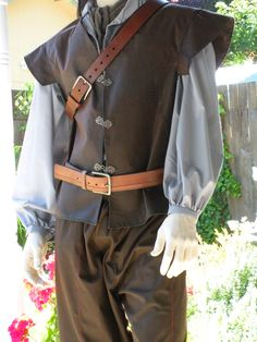 Huntsman or Woodsman Doublet or Vest. Brown. Large. Custom orders available.. $110.00, via Etsy.