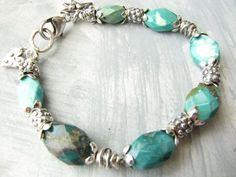 Chunky Turquoise Bracelet
