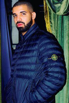 Drake wearing  Stone Island Zipped padded jacket