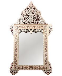 Exquisite inlaid bone mirror | Million Dollar Decorators