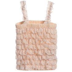 ANGEL'S FACE Ivory Lace Frilled Top