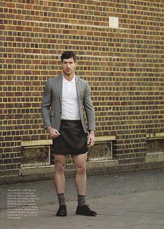 Men in skirts. Great legs