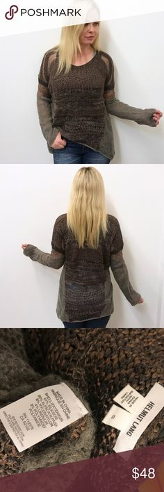 """Helmut Lang sweater Sz small S Helmut Lang sweater. Sz small. Very good condition. Chest flat across 23"""" length 27.5"""" Helmut Lang Sweaters Crew & Scoop Necks"""