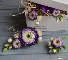 """Весільний комплект """"Эльза в фиолетовом цвете"""" Автор - Поддубная Юлия"""