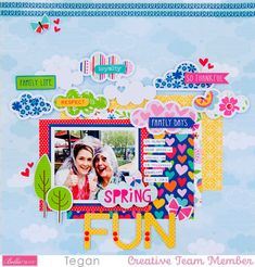 Scrapbook Page Layouts, Scrapbook Cards, Happy Spring, Family Day, Creative Studio, Paper Piecing, Scrapbooks, Card Making, Blog