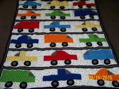 If your child loves cars and trucks, they will love this blanket! Covered in cars, trucks and vans in bright colors this blanket is sure to be a favorite