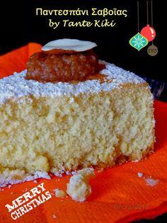 Παντεσπάνι Σαβοϊας με άρωμα εσπεριδοειδών, η πιο εύκολη βάση για τούρτα   Tante Kiki Vanilla Cake, Cheesecake, Merry Christmas, Sweets, Yummy Yummy, Kai, Desserts, Recipes, Food