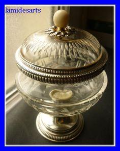 Drageoir cristal de Baccarat et argent Minerve