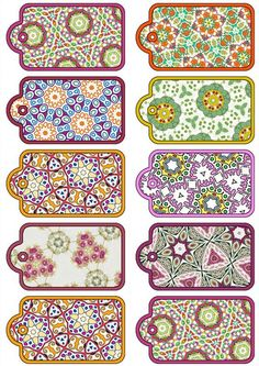 free scrapbook cutouts to print | ... .....Set of ten Scrapbooking Tags on a Digital Collage Sheet: