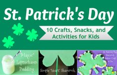 st. patricks day crafts, snacks, and activities