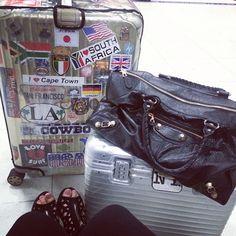 .@ritraveler   Rimowa Topas Titanium and Pilot suitcase + Balenciaga Handbag @mscindymarie ...   Webstagram - the best Instagram viewer