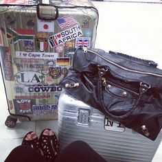 .@ritraveler | Rimowa Topas Titanium and Pilot suitcase + Balenciaga Handbag @mscindymarie ... | Webstagram - the best Instagram viewer