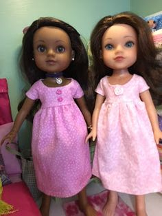 NIghtie free sewing pattern for H4H dolls